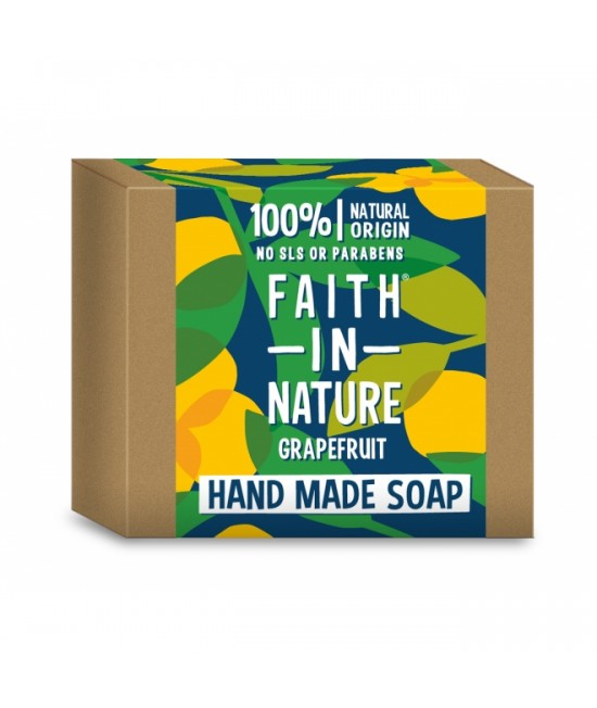 Săpun natural cu grapefruit BIO Faith in Nature handmade (fabricat manual)