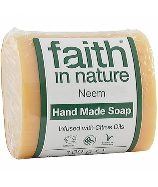 Săpun natural cu neem BIO Faith in Nature handmade (fabricat manual)