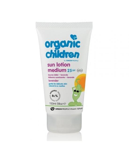 Loțiune de protecție solară pentru copii BIO SPF25 - cu levănțică - Green People Organic Children