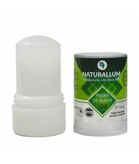 Deodorant mineral natural - piatră de alaun Naturallum - 120g