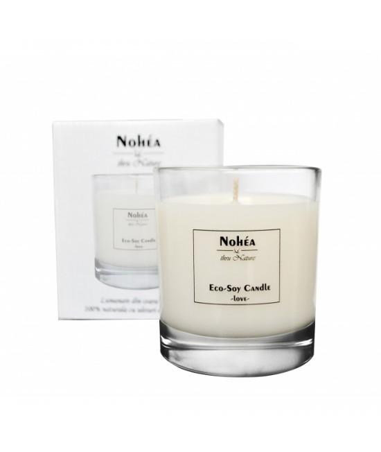 Lumânare parfumată naturală din ceară de soia Nohea Love