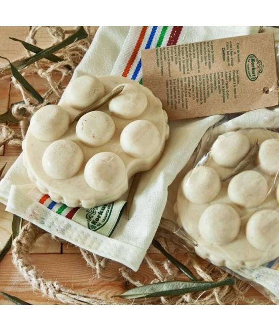 Set pentru masaj anti-celulitic (săpun cu frunze de măslin + mănușă exfoliantă) Olivos - 135 g