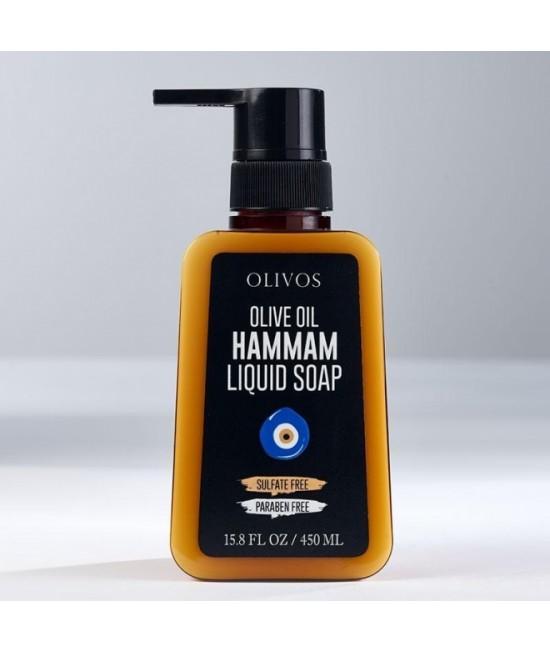 Săpun lichid natural Olivos Hammam cu ulei de măsline  - 450 ml - rețetă originală