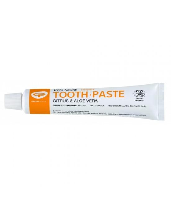 Pastă de dinți Green People naturală organică homeopată pentru adulți - cu citrice