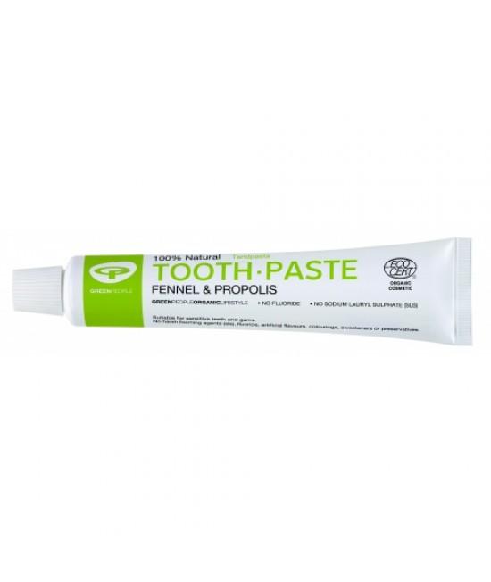 Pastă de dinți Green People naturală organică homeopată pentru adulți - cu fenicul și propolis