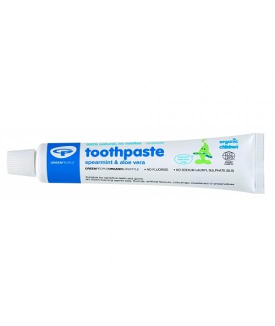 Pastă de dinți Green People naturală fără fluor pentru copii - cu mentă și aloe vera