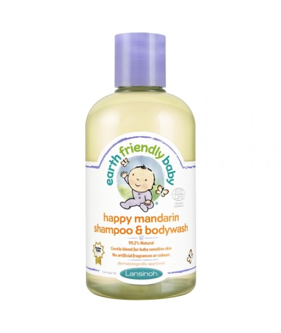 Șampon și gel de duș bio mandarine Earth Friendly Baby