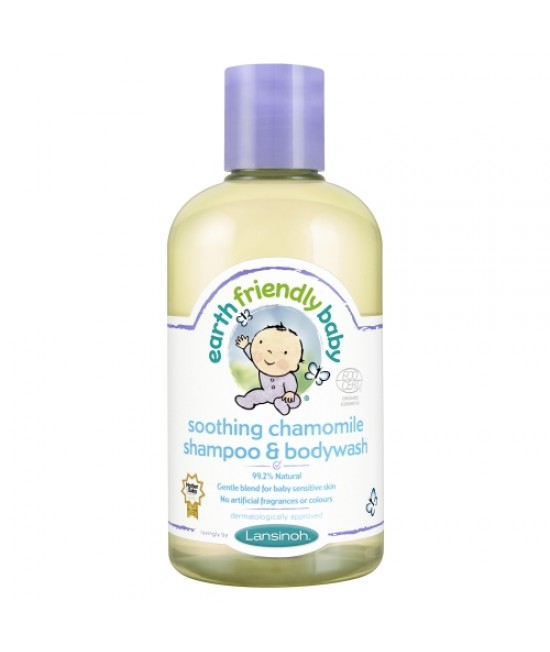 Șampon și gel de duș bio mușețel Earth Friendly Baby