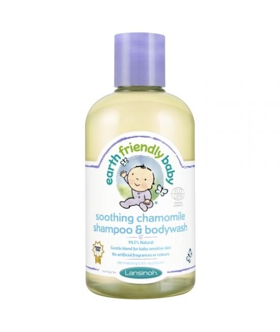 Șampon și gel de duș bio mușețel Earth Friendly Baby