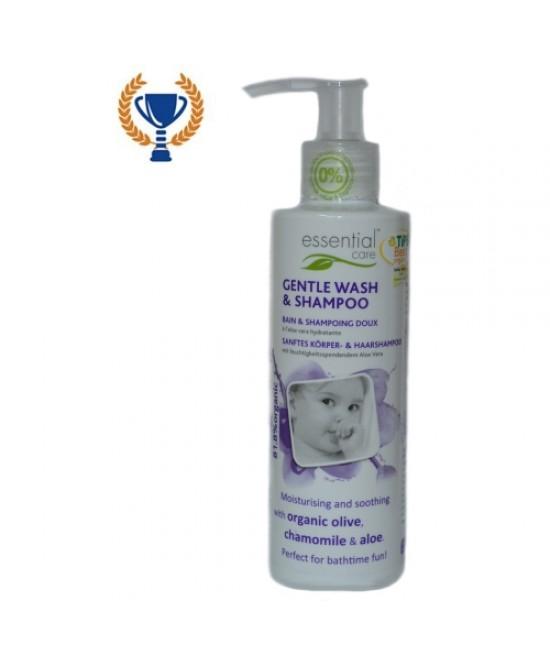 Șampon și gel de duș bio Essential Care pentru copii și bebeluși
