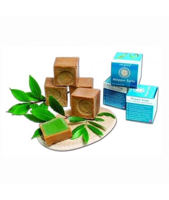 Săpun de Alep cu 32% dafin pentru pielea sensibilă, eczeme, psoriazis, dermatite - Finigrana Alep