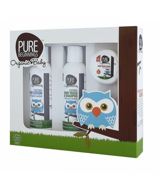 Set cadou organic Pure Beginnings pentru bebeluși