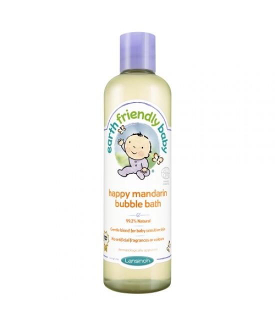 Spumă de baie bio cu mandarine Earth Friendly Baby - pentru bebeluși