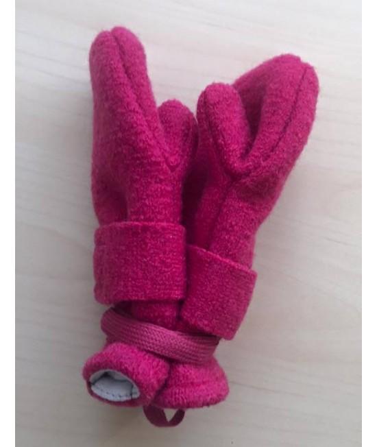 Mănuşi din lână organică Merino căptuşite cu bumbac organic Pickapooh (roz)