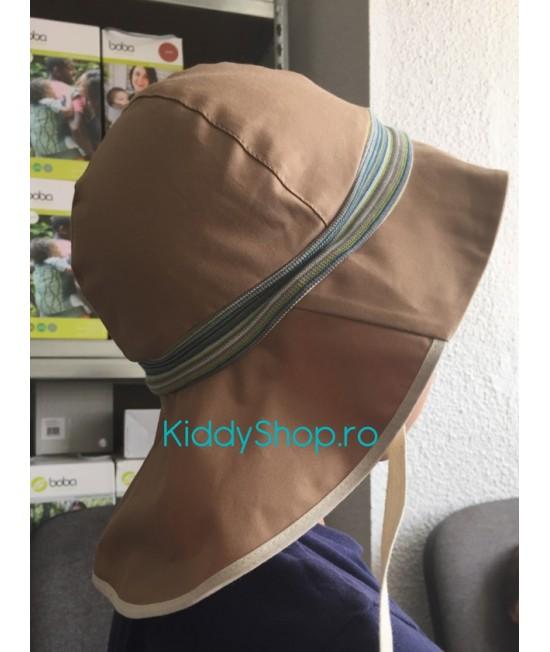 """Pălărie de soare cu boruri mari Pickapooh """"Pompier"""" cu protecție UV UPF20 din bumbac organic pentru copii"""