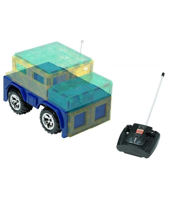 Bază Playmags pentru mașinuță magnetică cu telecomandă - albastră