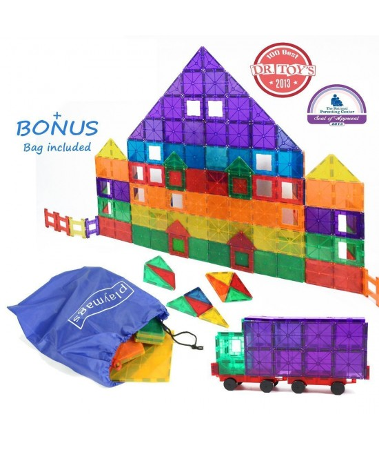 Set Playmags - 150 piese magnetice de construcție + 18 accesorii