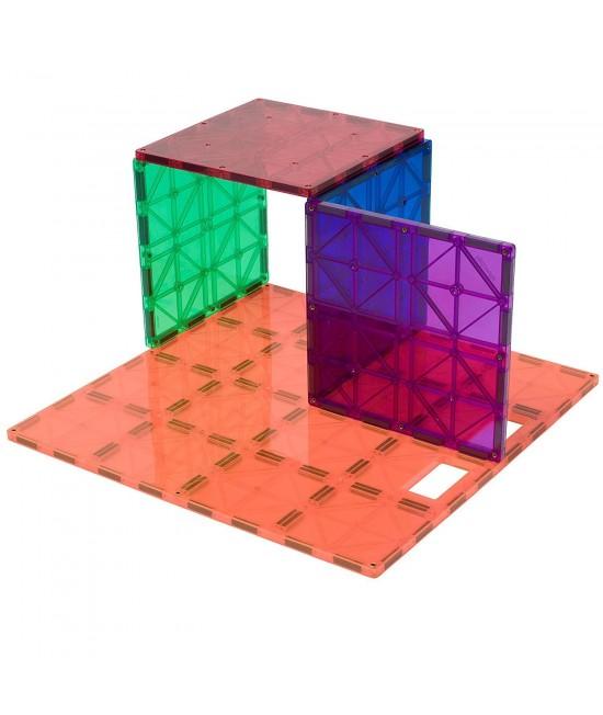 Set Playmags Stabilizator: 1 placă de bază pentru construcții Playmags MagnaBoard Stabilizatoare + 4 pătrate mari
