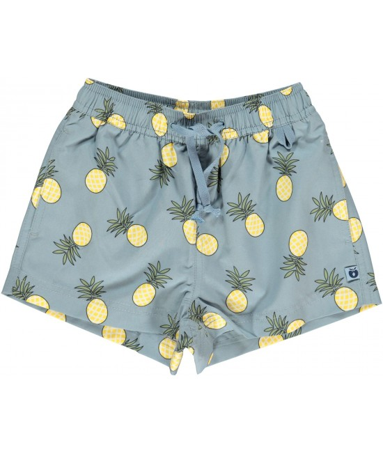 Pantaloni scurți pentru copii - cu filtru UV pentru protecție solară Smafolk albaștrii cu ananas