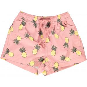 Pantaloni scurți pentru copii - cu filtru UV pentru protecție solară Smafolk roz cu ananas