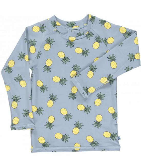Bluză cu filtru UV pentru protecție solară Smafolk - albastru cu ananas
