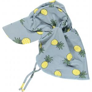 Pălărie cu filtru UV pentru protecție solară Smafolk - albastru cu ananas