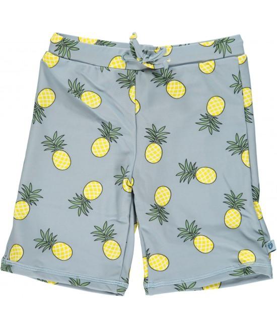 Pantaloni scurți de baie cu filtru UV pentru protecție solară Smafolk - albastru cu ananas