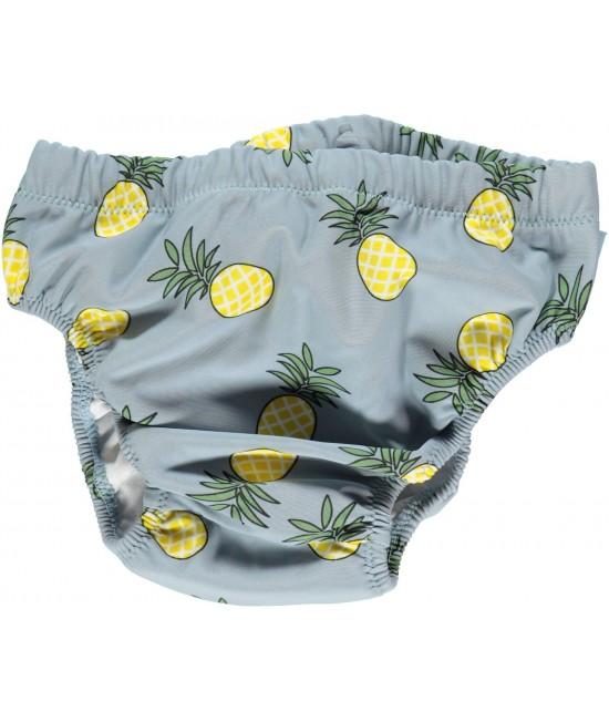 Scutec refolosibil de apă cu filtru UV pentru protecție solară Smafolk - albastru cu ananas