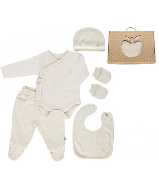 Set cadou pentru nou-născuți: îmbrăcăminte Smafolk din bumbac organic