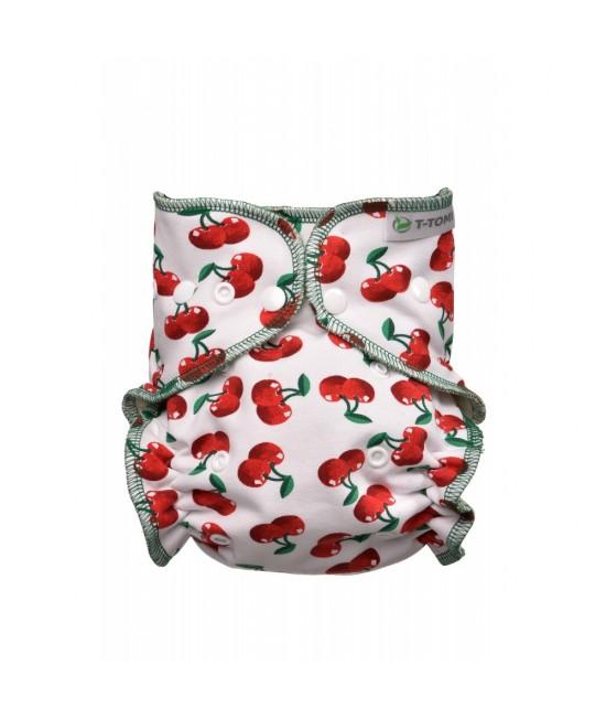 Scutec refolosibil fitted T-Tomi Cherries cu capse