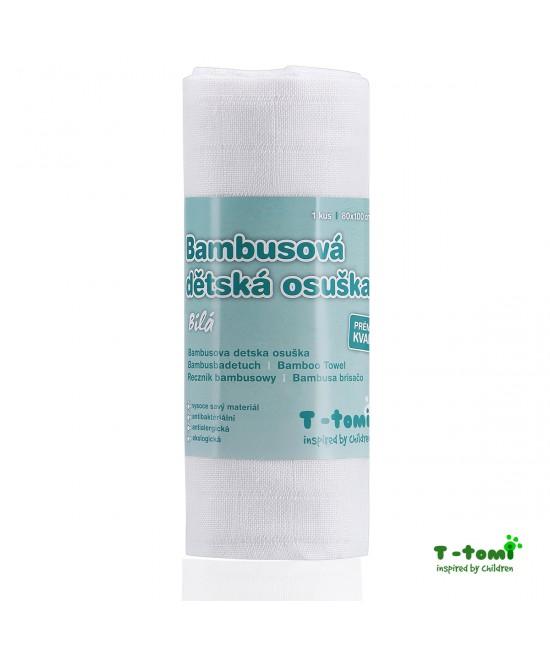 Prosop din bambus T-Tomi - White