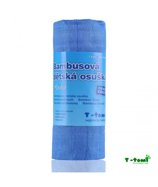 Prosop din bambus T-Tomi - Blue