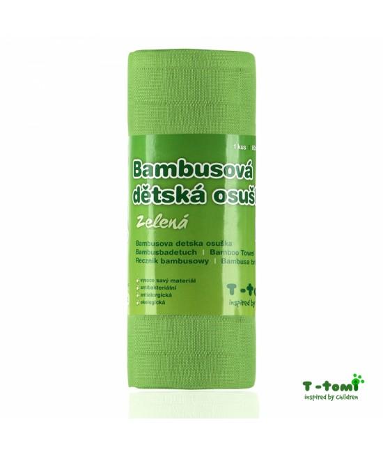 Prosop din bambus T-Tomi - Green