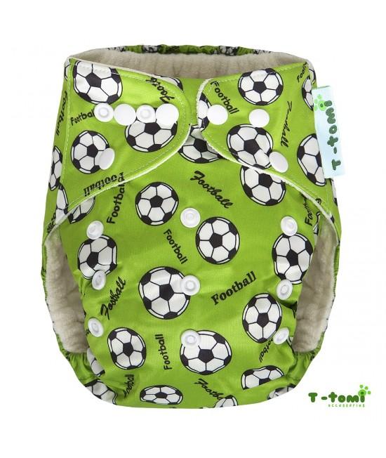 Scutec textil cu buzunar din bambus, cu inserturi din bambus T-Tomi Football