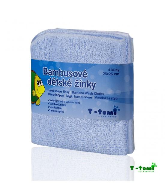 Șervețele albastre din bambus T-Tomi pentru spălarea bebelușului