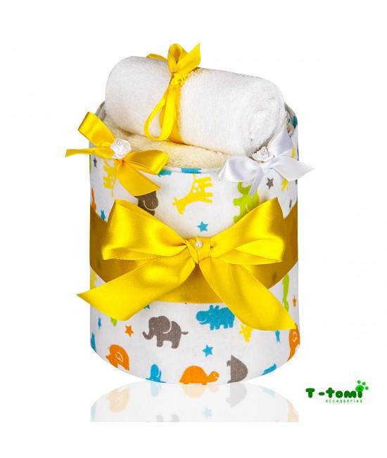 Tort de scutece de bumbac T-Tomi Eco-Lux - Small Giraffe