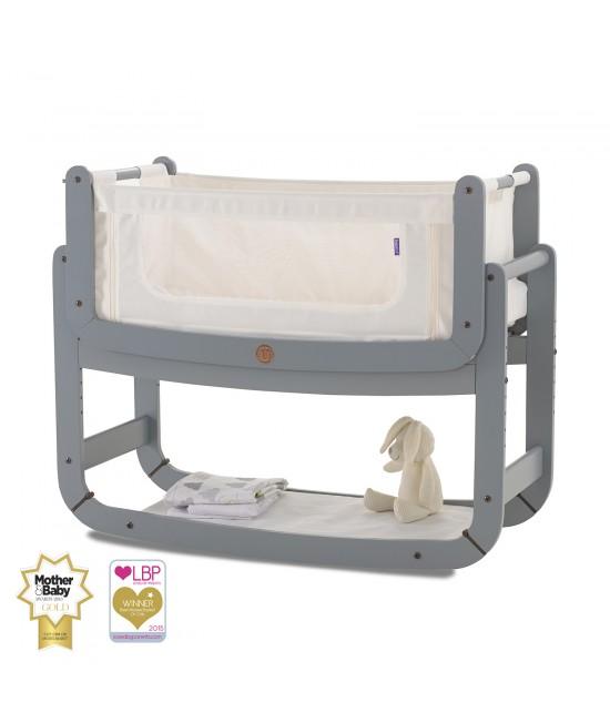 Pătuț de atașat la patul părinților (cosleeper) SnuzPod2 3-în-1 Grey