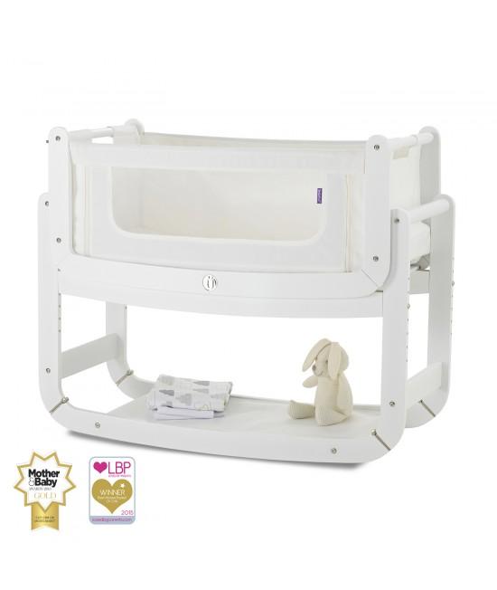 Pătuț de atașat la patul părinților (cosleeper) SnuzPod2 3-în-1 White