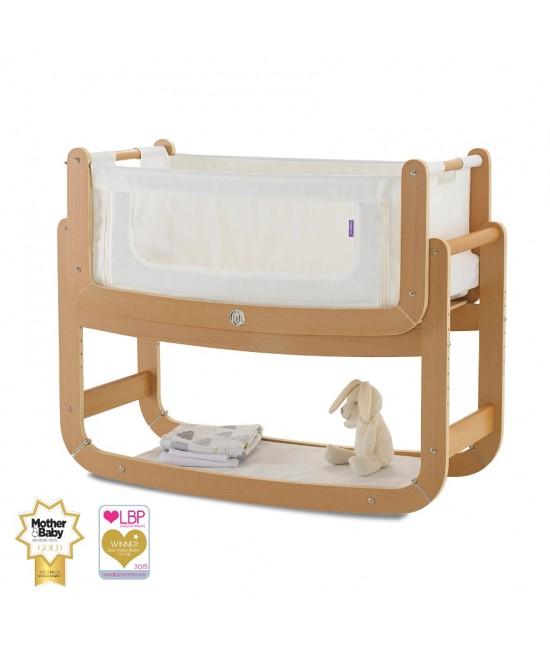 Pătuț de atașat la patul părinților (cosleeper) SnuzPod2 3-în-1 Natural