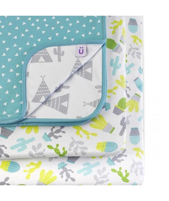 Set de lenjerie de pat imprimată Designz pentru pătuțul de bebeluși SnuzPod - Rootin' Tootin'