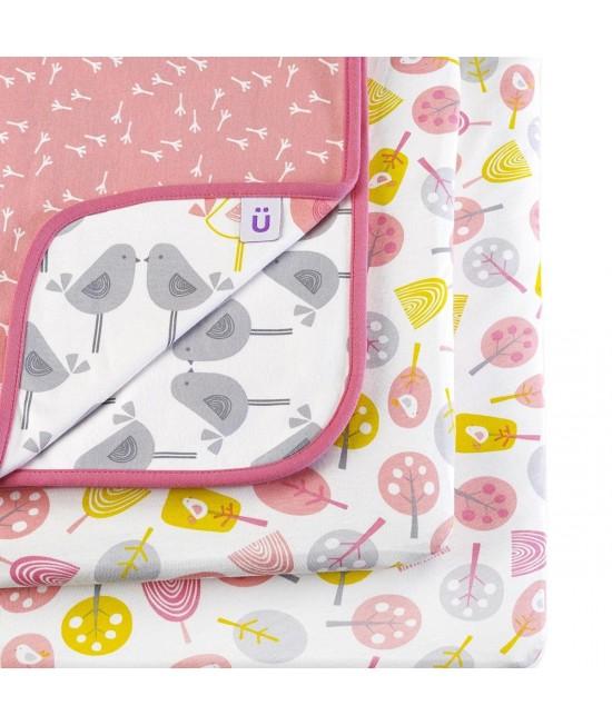 Set de lenjerie de pat imprimată Designz pentru pătuțul de bebeluși SnuzPod - Little Tweets