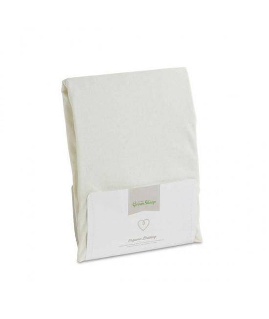 Cearșaf cu elastic din bumbac organic pentru patul copilului The Little Green Sheep - 90 x 190 cm