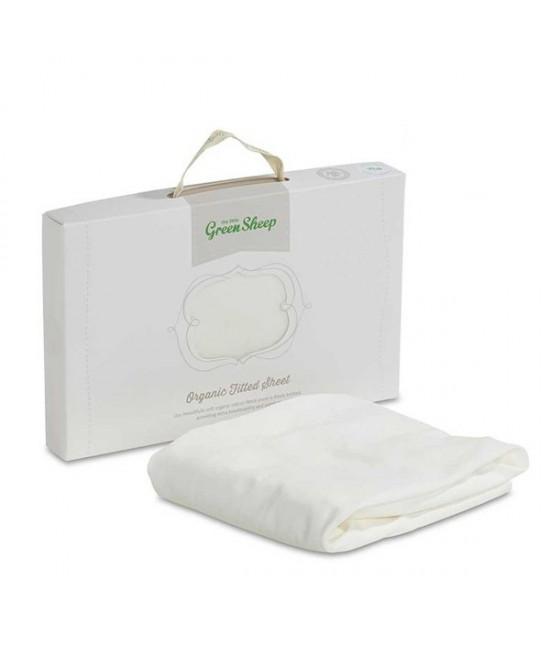 Cearșaf cu elastic din bumbac organic The Little Green Sheep pentru pătuțul bebelușului