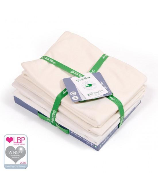 Set de lenjerie de pat din bumbac organic pentru pătuțul de bebeluși SnuzPod