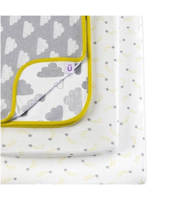 Set de lenjerie de pat imprimată Designz pentru pătuțul de bebeluși SnuzPod - Cloud Nine