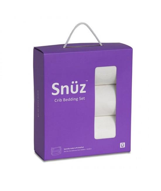 Set de lenjerie de pat albă pentru pătuțul de bebeluși SnuzPod