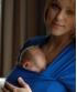 Tricou cu mânecă lungă pentru îngrijirea piele pe piele stil cangur și pentru alăptare Vija Design Cobalt (albastru)