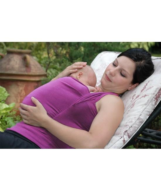 Maieu pentru îngrijirea piele pe piele stil cangur și pentru alăptare Vija Design Orchid Pink (roz)