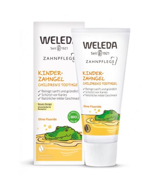 Pastă de dinți naturală fără fluor pentru copii – Gel de dinți cu gălbenele Weleda