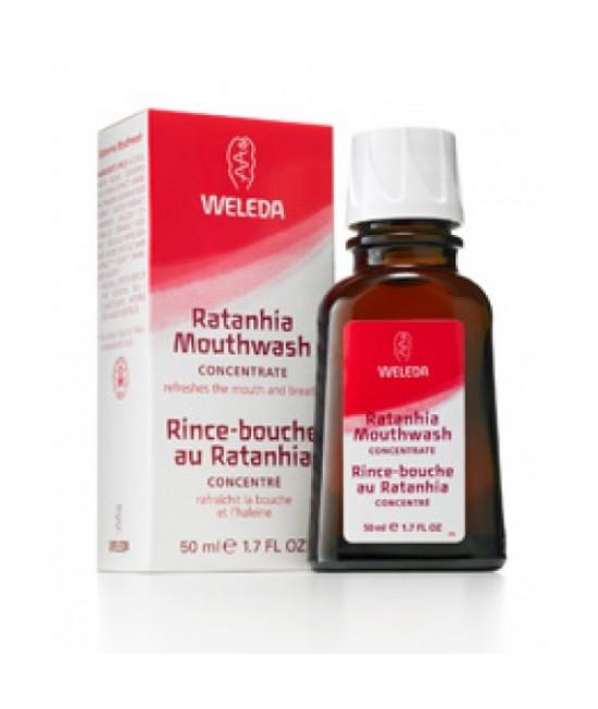 Apă de gură naturală concentrată Weleda cu ratanhia - 50 ml = 6 litri